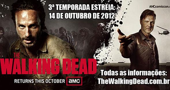 The Walking Dead: 3ª temporada estreia dia 14 de outubro de 2012