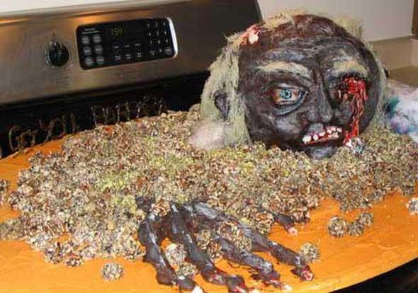 10 bolos decorados de forma macabra