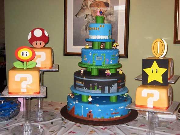 Bolos temáticos do Super Mario