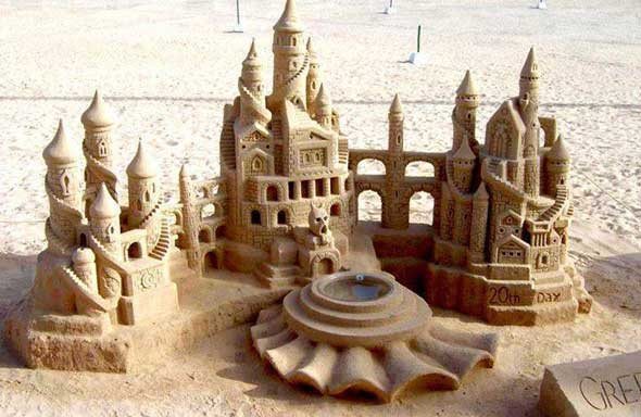 20 castelos de areias impressionantes