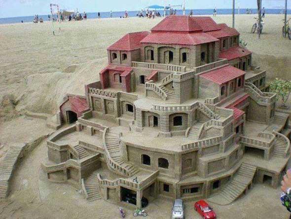 21 castelos de areias impressionantes