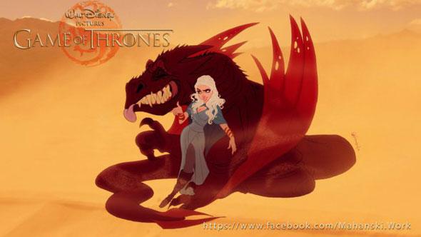 game-of-thrones-personagens-disney-daenerys