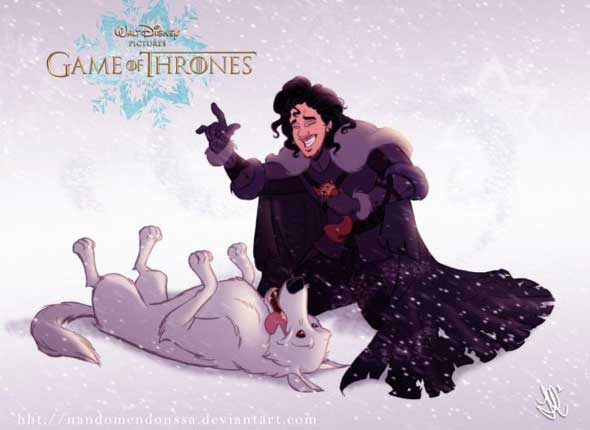 game-of-thrones-personagens-disney-jon-snow-fantasma