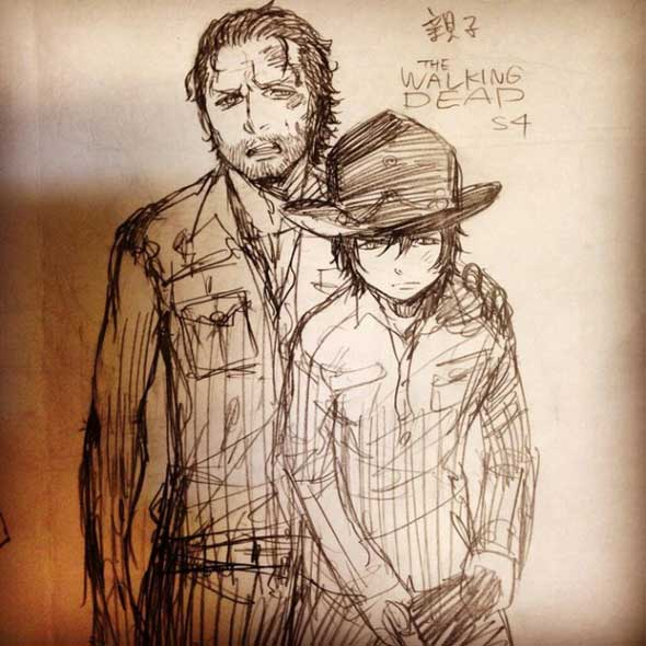 the-walking-dead-ao-no-exorcist-02