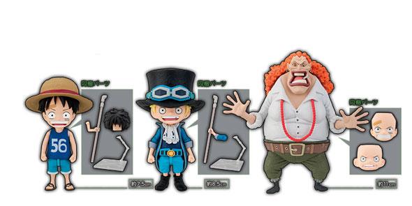 one-piece-stop-motion-asl-action-figures-bonecos-luffy-sabo-dadan