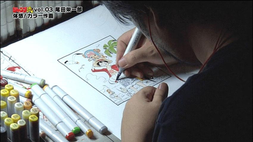 One-Piece-Eiichiro-Oda-Desenhando-Drawing-1