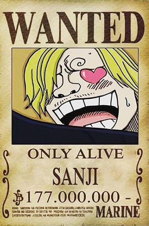 One-Piece-Sanji-Wanted-Procurado-Poster