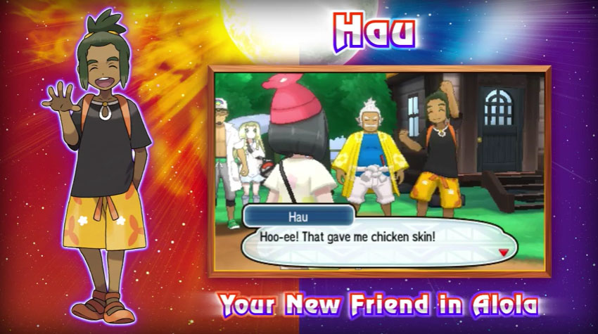 Pokemon Sun Moon Hau Geekdama