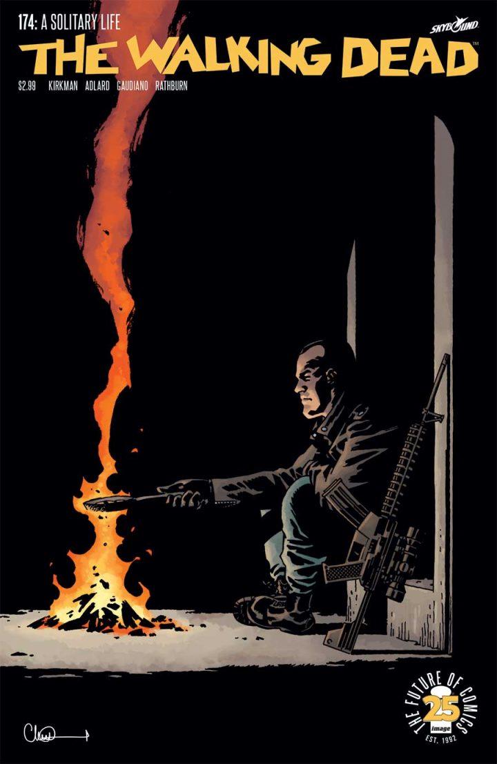 Capa da edição 174 dos quadrinhos de The Walking Dead.