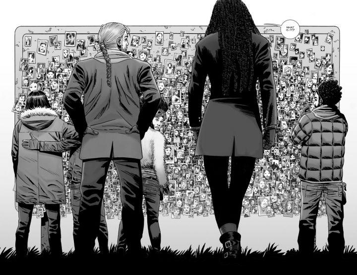 O Mural dos Desaparecidos, na edição 175 dos quadrinhos de The Walking Dead.