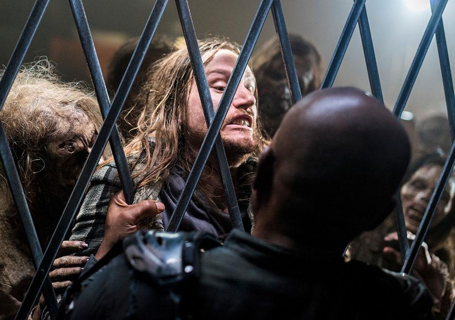 Morgan mata Jared, no 14º episódio da 8ª temporada de The Walking Dead.