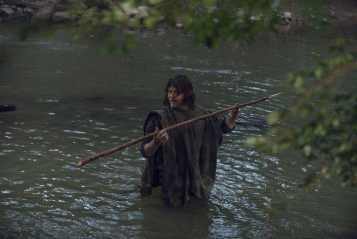 Daryl Dixon, no 6º episódio da 9ª temporada de The Walking Dead.