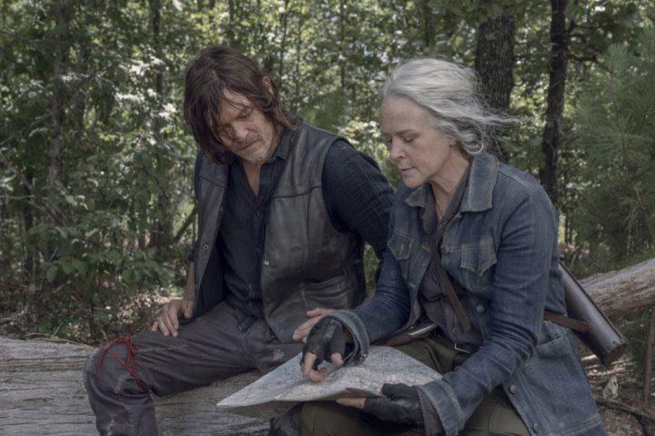 Daryl e Carol no 6º episódio da 10ª temporada de The Walking Dead.