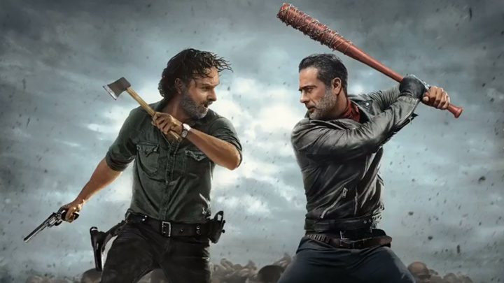 Rick VS Negan, no pôster da 8ª temporada de The Walking Dead.