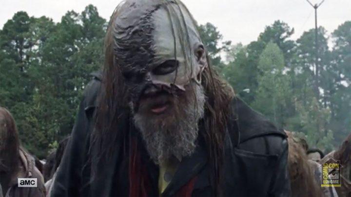 Beta lidera a horda de zumbis, no 16º episódio da 10ª temporada de The Walking Dead.