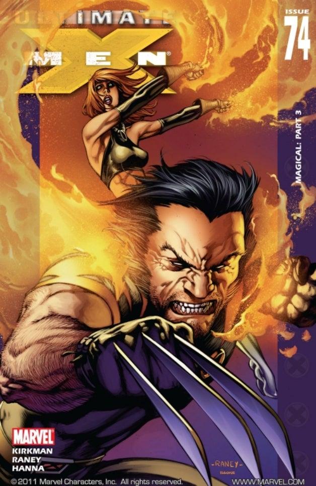 "Capa de ""Ultimate X-Men"" #74, com roteiro de Robert Kirkman."