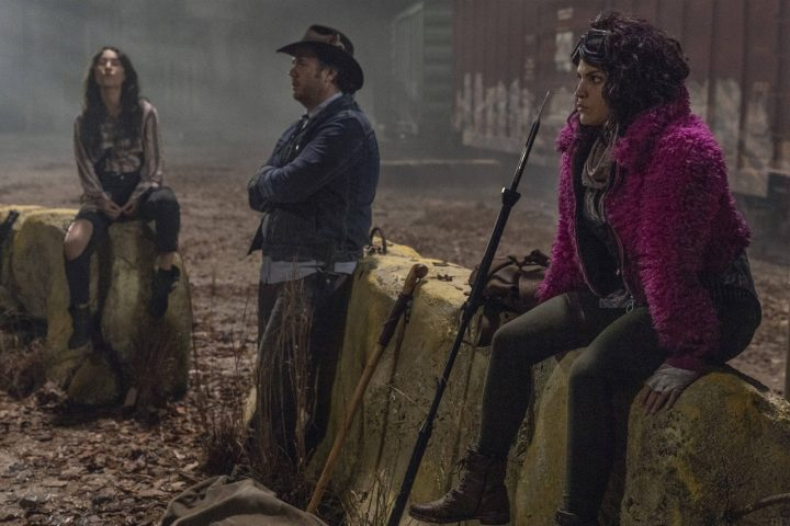 Yumiko, Eugene e Princesa, no 16º episódio da 10ª temporada de The Walking Dead.