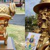 One Piece | Chopper e Brook ganham estátuas de bronze no Japão