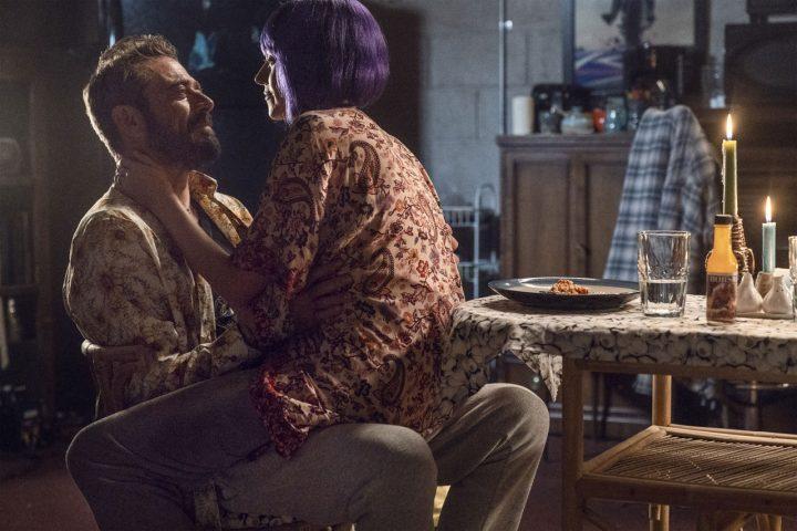 "Negan e Lucille no 22º episódio da 10ª temporada de The Walking Dead (S10E22 - ""Here's Negan"")."