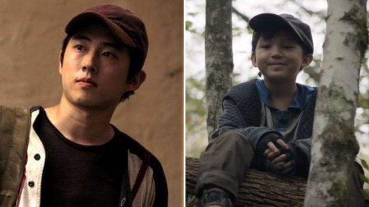 """Montagem de Glenn com uma cena de seu filho Hershel no 17º episódio da 10ª temporada de The Walking Dead (S10E17 - """"Home Sweet Home"""")."""