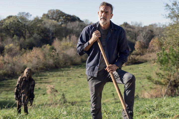"""Negan no 22º episódio da 10ª temporada de The Walking Dead (S10E22 - """"Here's Negan"""")."""