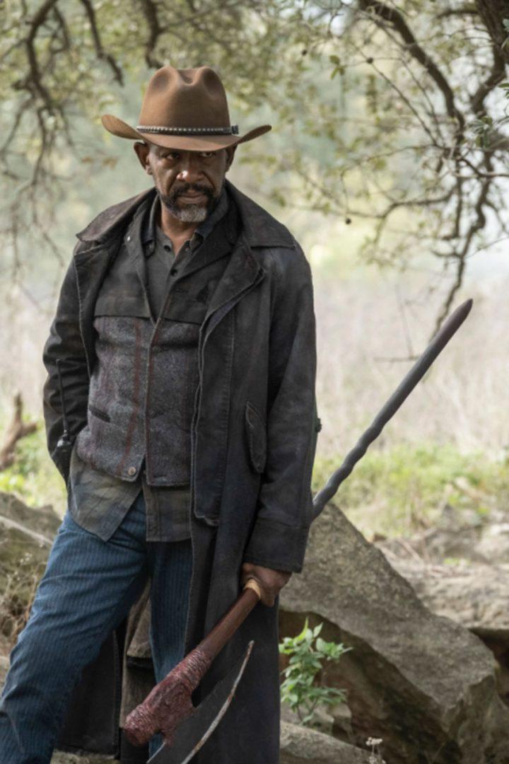 "Morgan Jones no 8º episódio da 6ª temporada de Fear The Walking Dead (S06E08 - ""The Door"")."