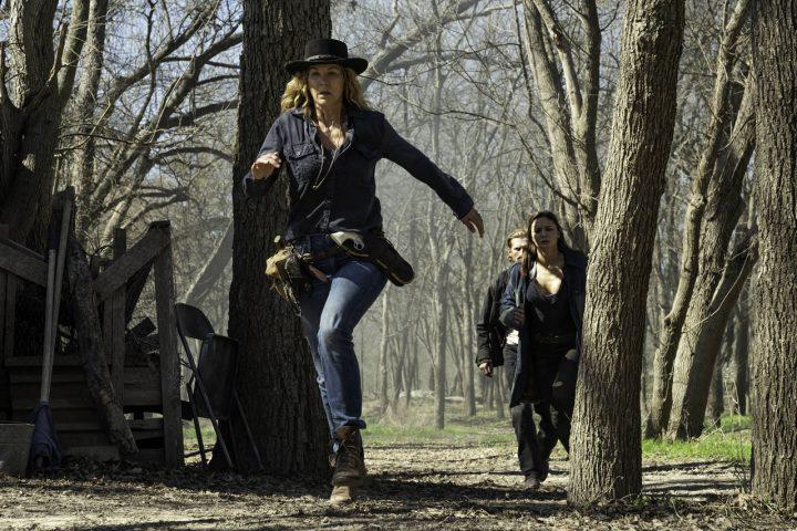 "June, Sherry e Dwight no 13º episódio da 6ª temporada de Fear The Walking Dead (S06E13 - ""J.D."")."