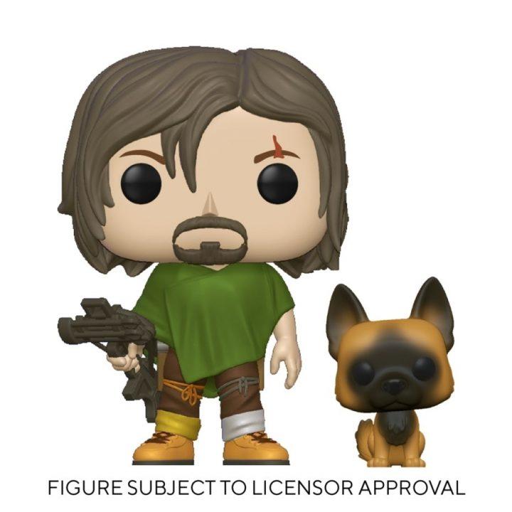Daryl Dixon e Cão da nova coleção de Funkos da 10ª temporada de The Walking Dead.