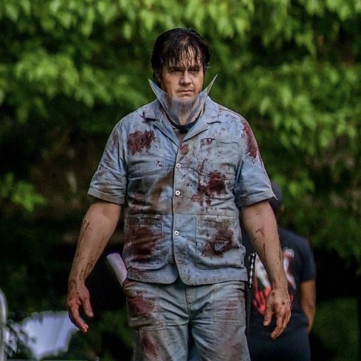 Eugene(Josh McDermitt) nos bastidores da 11ª temporada de The Walking Dead.