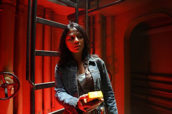 """Grace no 15º episódio da 6ª temporada de Fear The Walking Dead (S06E15 - """"USS Pennsylvania"""")."""