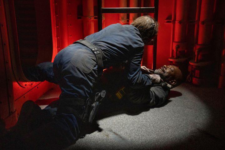 """Morgan Jones no 15º episódio da 6ª temporada de Fear The Walking Dead (S06E15 - """"USS Pennsylvania"""")."""