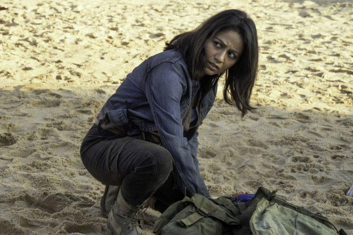 "Grace no 16º episódio da 6ª temporada de Fear The Walking Dead (S06E16 - ""The Beginning"")."