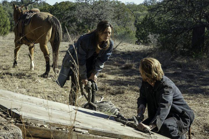 "Sherry e Dwight no 16º episódio da 6ª temporada de Fear The Walking Dead (S06E16 - ""The Beginning"")."