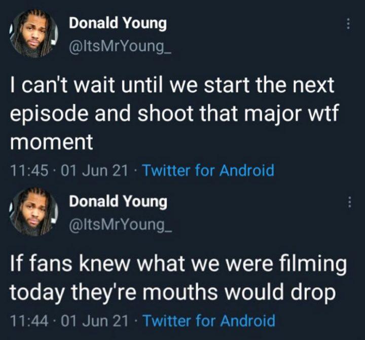 Donald Young, um dos dublês de Khary Payton, o Ezekiel em The Walking Dead, comenta sobre as gravações da 11ª temporada da série.