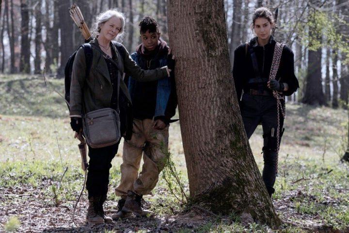 Carol, Kelly e Magna em foto promocional da 11ª temporada de The Walking Dead.
