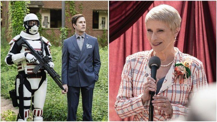 Lance Hornsby (Josh Hamilton) e Governadora Pamela Milton (Laila Robins) na 11ª temporada de The Walking Dead.
