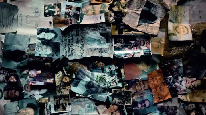 O Mural dos Desaparecidos em Commonwealth, na 11ª temporada de The Walking Dead.