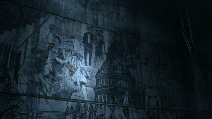 """Daryl encontra pichações em túnel do metrô no 1º episódio da 11ª temporada de The Walking Dead (S11E01 - """"Acheron: Part I"""")."""