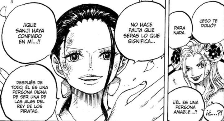 One Piece | Nico Robin enfrenta Black Maria no capítulo 1020 do mangá, versão oficial em espanhol pelo MangaPlus.