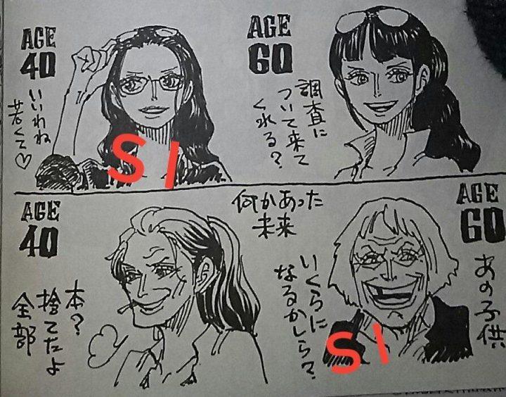 Foto de um trecho do SBS, a seção de cartas, do Volume 100 do mangá de One Piece. Tradução livre abaixo.