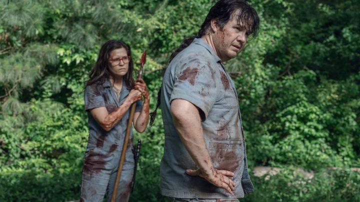 """Fake Stephanie e Eugene no 7º episódio da 11ª temporada de The Walking Dead (S11E07 - """"Promises Broken"""")."""